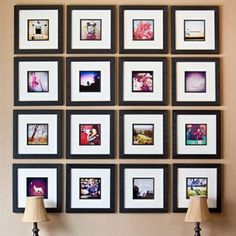 Wall Photo Collage Images 43 How to Easily Create A Frame Collage Wall Display Photowall Ideas, Photo Deco, Diy Casa, Home And Deco, Photo Displays, Display Photos, Artwork Display, Beautiful Space, Beautiful Wall