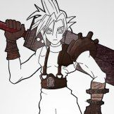 How To Draw Cloud Strife Textures Close up
