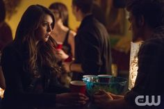 """The Vampire Diaries -- """"The Devil Inside"""" -- Image Number: VD512b_0107.jpg -- Pictured (L-R): Nina Dobrev as Elena and Paul Wesley as Stefan -- Photo: Blake Tyers/The CW -- © 2013 The CW Network, LLC. All rights reserved."""