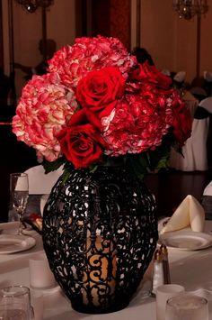 Rock n roll wedding center pieces | Rock n Roll/Art Deco Wedding Ideas / one idea - Black wedding ...