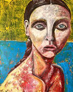 Magdolna 40/50 acrylic painting by Szandra Reinecker