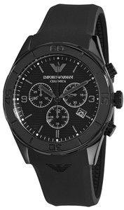 Buy Emporio Armani Men's AR1434 Ceramic Black Silicone Strap Online armaniemporiowatches.co.uk