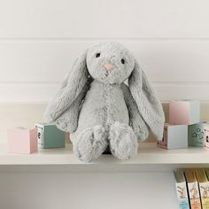 Jellycat Bashful Bunny - Medium Silver | The White Company Exclusive