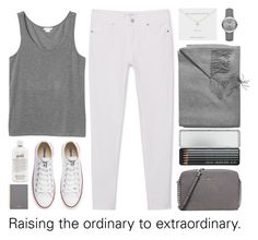 """Raising the ordinary to extraordinary."" by lolipop132 ❤ liked on Polyvore featuring Sofia Cashmere, Burberry, MICHAEL Michael Kors, Estella Bartlett, Caran D'Ache, MANGO, Monki, Converse, Mulberry and philosophy"