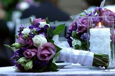 Fialová svatební kytice, jakou květinu nechat uváz... Table Decorations, Colors, Home Decor, Floral Arrangements, Decoration Home, Room Decor, Colour, Home Interior Design, Color