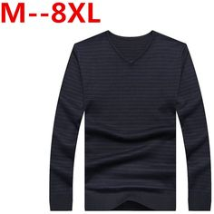 >> Click to Buy << Ali 8XL 7XL 6XL 5XL Ali Casual Sweater Men Pullovers Brand winter Knitting long sleeve v-Korean Slim Neck slim Knitwear Sweaters #Affiliate