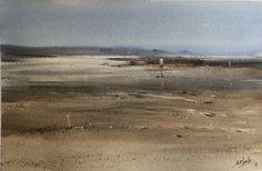 "Aurora Charlo ""Low tide"" 38x58"