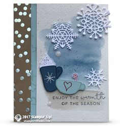 CARD: Enjoy the Warmth Card from the Hug in a Mug Stamps | Stampin Up Demonstrator - Tami White - Stamp With Tami Crafting and Card-Making Stampin Up blog