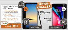 Apple iPhone 8 (256GB) für 1€ mit 4GB Klarmobil Allnet Flat für 49,85€ http://www.simdealz.de/vodafone/apple-iphone-8-mit-klarmobil-4gb-tarif/