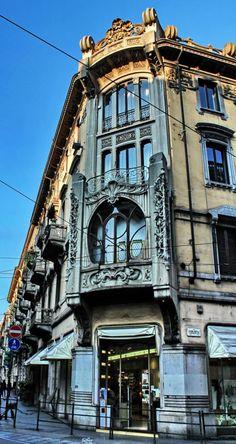 TORINO (Piemonte) - nei pressi di Via Pietro Micca - Italy, Turin #Art #Nouveau