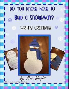 Do You Know How To Build A Snowman Writing Craftivity