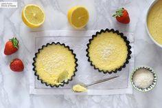 Pastel de limón y coco sin gluten y sin azúcar. Receta de postre fácil y sencilla Sem Gluten Sem Lactose, Lactose Free, Gluten Free, Tarte Fine, Muffin, Low Carb, Cupcakes, Cooking, Breakfast