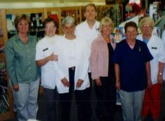 First Lady of Iowa, Christie Vilsack, visits Drilling Pharmacy in 2004.