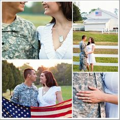 Military couple shoot.