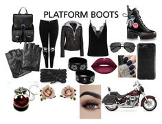 """""""Platform Rocks!"""" by fallen-wolf on Polyvore featuring Wilsons Leather, Boohoo, Aspinal of London, Yves Saint Laurent, Karl Lagerfeld, Monza, Les Néréides, Lime Crime, OPI and Harley-Davidson"""