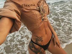 """""""free spirit"""" – – """"free spirit"""" – – … – Tattoo Model And Advice Badass Tattoos, Body Art Tattoos, Sleeve Tattoos, Thigh Tattoos, Neck Tattoos, Tattoo Hip, Bikini Tattoo, Tattoo Wolf, Snake Tattoo"""