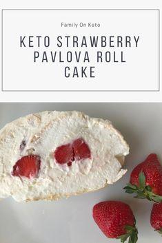 Keto Strawberry 🍓 Pavlova Roll Cake