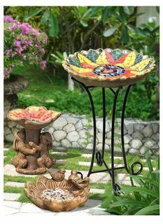 Mosaic tile bird bath - All About Mosaic Crafts, Mosaic Projects, Mosaic Art, Mosaic Glass, Mosaic Birdbath, Mosaic Birds, Mosaic Madness, Concrete Art, Glass Birds