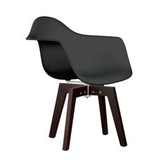Some designs were ahead of their time, as one of the most iconic mid-century designs inspired this Trestle Arm Chair. Created in the spirit of economy, its unique shape holds weight and pressure evenly...  Find the Trestle Arm Chair, as seen in the Our Best Mid-Century Designs Collection at http://dotandbo.com/collections/our-best-mid-century-designs?utm_source=pinterest&utm_medium=organic&db_sku=DBI0032-BLK