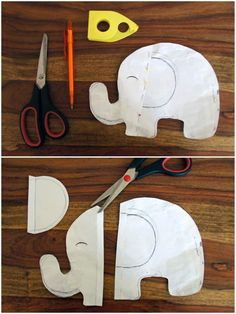 DIY Knistertuch Elefant Schmusetuch