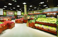 SuperValu's new Star Market flagship store in Chestnut Hill, Mass., is the first supermarket in the nation to be lit entirely by LED lights, inside and out. Photo: Mark A. Steele Photography, Columbus, Ohio View Image Details