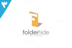 Folder Hide - Letter F Logo by wopras on @creativemarket