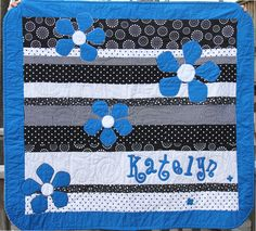 for katelyn black and white baby quilt by ginny watson