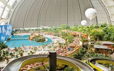 Tropical World, white sandy beaches, palm trees, exotic world - Tropical Islands - Europe's largest tropical holiday world, located just outside of Berlin, Germany-- this is bucket listed :)