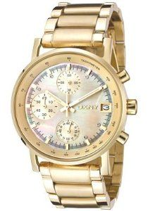 DKNY Chronograph Quartz Gold Tone Dial Women's Watch NY4332
