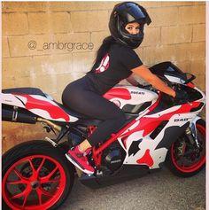 Amber is 'the' S-curvish biker girl