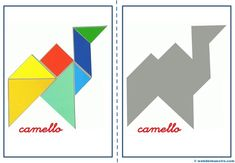 Tangram   Figuras para imprimir online Maths Day, Toddler School, Business For Kids, Teaching Math, Crafts For Kids, Puzzle, Barn, Shapes, Education