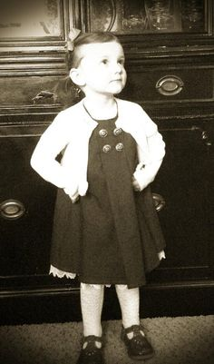 Dark Grey Girls Dress by RememberWhenCC on Etsy, $46.00