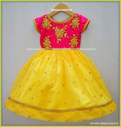 Kids party wear desings by Angalakruthi boutique Bangalore Custom designs by Angalakruthi boutique Bangalore kids tradational wear with rich hand embroidery designs maggam work designs for kids wear custom designs for kids kids party wear designs tradatioanl party wear designs