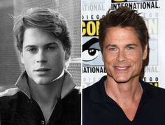 Actors of the Then and now Anthony Michael Hall, Michael Keaton, Celebrities Before And After, Celebrities Then And Now, Rob Lowe, Kelly Mcgillis, Val Kilmer, Burt Reynolds, Kevin Costner