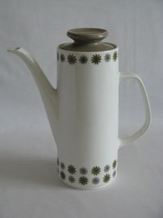 1960s J & G Meakin Studio Allegro Coffee Pot Designed by Tom Arnold