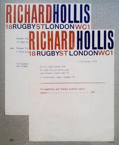 Richard Hollis letterhead