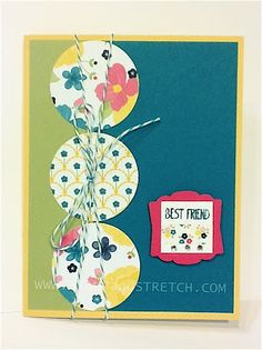 Stamp and Stretch: Sneak Peek- Stampin'Up Gingham Garden DSP