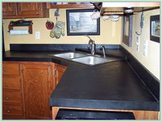 Redesigning Your Kitchen Area: Choosing Your New Kitchen Counter Tops – Outdoor Kitchen Designs Cost Of Concrete Countertops, Slate Countertop, Outdoor Kitchen Countertops, Countertop Materials, Laminate Countertops, Bathroom Countertops, Cement Counter, Kitchen Counters, Copper Counter