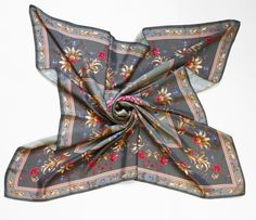 "Oxana Lychagina's silk shawl ""Olive grove"""