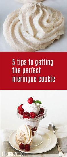 5 tips to getting the perfect Meringue cookies - with piping bag bonus tips 5 tips to getting the perfect meringue cookies with bonus piping bag tips Pavlova, Cookie Recipes, Dessert Recipes, Desserts, Cookie Tips, Perfect Meringue, What Is Meringue, Baked Meringue, Best Meringue Cookies Recipe