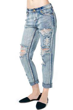 One Teaspoon 1969 Boyfriend Jeans