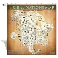 Brand new product, as a result of it being suggested by several customers! Introducing the Tribal Nations Map Shower Curtain. Want to start out the day with some indigenous reality, thereby minimizing trivial daily politics? Contact me for details. Thanks!-Aaron