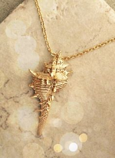 Gold Shell US SHIPS FREE Necklace Gold Necklace by LimonBijoux