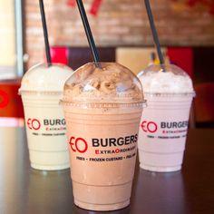 Fabulous shakes help beat the heat! Frozen Custard, Beat The Heat, Burgers, Coffee, Food, Hamburgers, Kaffee, Meals, Yemek