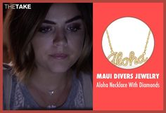 Pretty Little Liars star Lucy Hale (Aria Montgomery) spotted wearing our Aloha necklace!  http://www.mauidivers.com/default.aspx?node=Hawaiian-Jewelry&product=Aloha-Necklace-with-Diamonds-in-14K-Yellow-Gold&q=Aloha%2bNecklace&s=MTozNjo0Ojo6Og%3d%3d