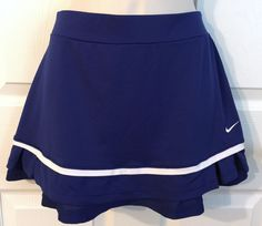 Nike Dri Fit Medium Breathe Pleated Tennis Skirt Skort Royal White M | eBay