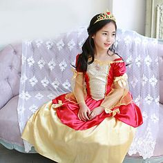Girl's+Summer+Cinderella+Princess+Dress+Inelastic+Thin+½+Length+Sleeve+Dresses+(Cotton+Blends)+–+USD+$+15.99