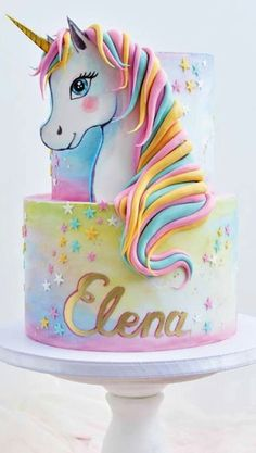 The Best Ideas To Make Unicorn Birthday Cake - Birthday Cake Flower Ideen Unicorne Cake, Eat Cake, Cupcake Cakes, Pretty Cakes, Cute Cakes, Beautiful Cakes, Unicorn Birthday Parties, Unicorn Party, Unicorn Rainbow Cake