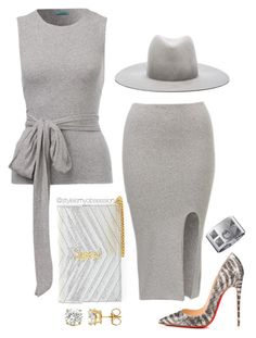 """Untitled #1626"" by dnicoleg ❤ liked on Polyvore featuring Yves Saint Laurent, Janessa Leone and Christian Louboutin"