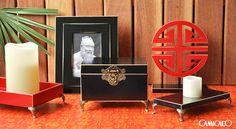 Deixe sua casa mais zen com a coleção Shanghai. Caixas decorativas, bandejas e totens para trazer o estilo oriental para dentro da sua casa.